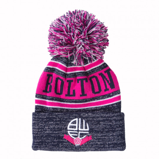 Bolton Wanderers Club And Country Beanie Hat Navy