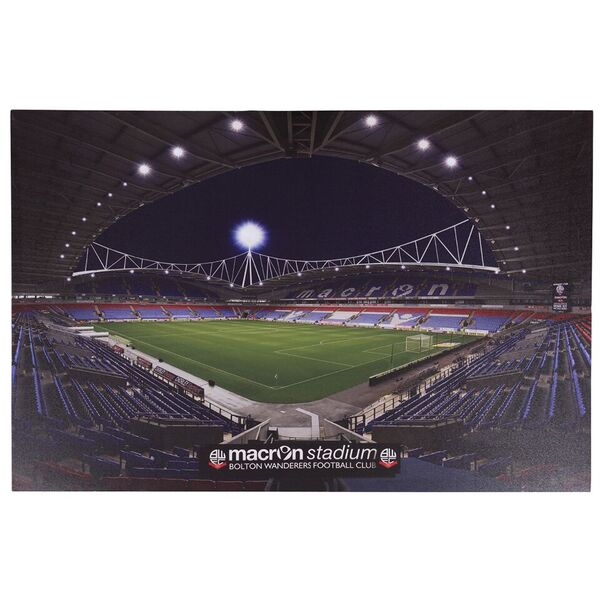Canvas Stadium print with lights