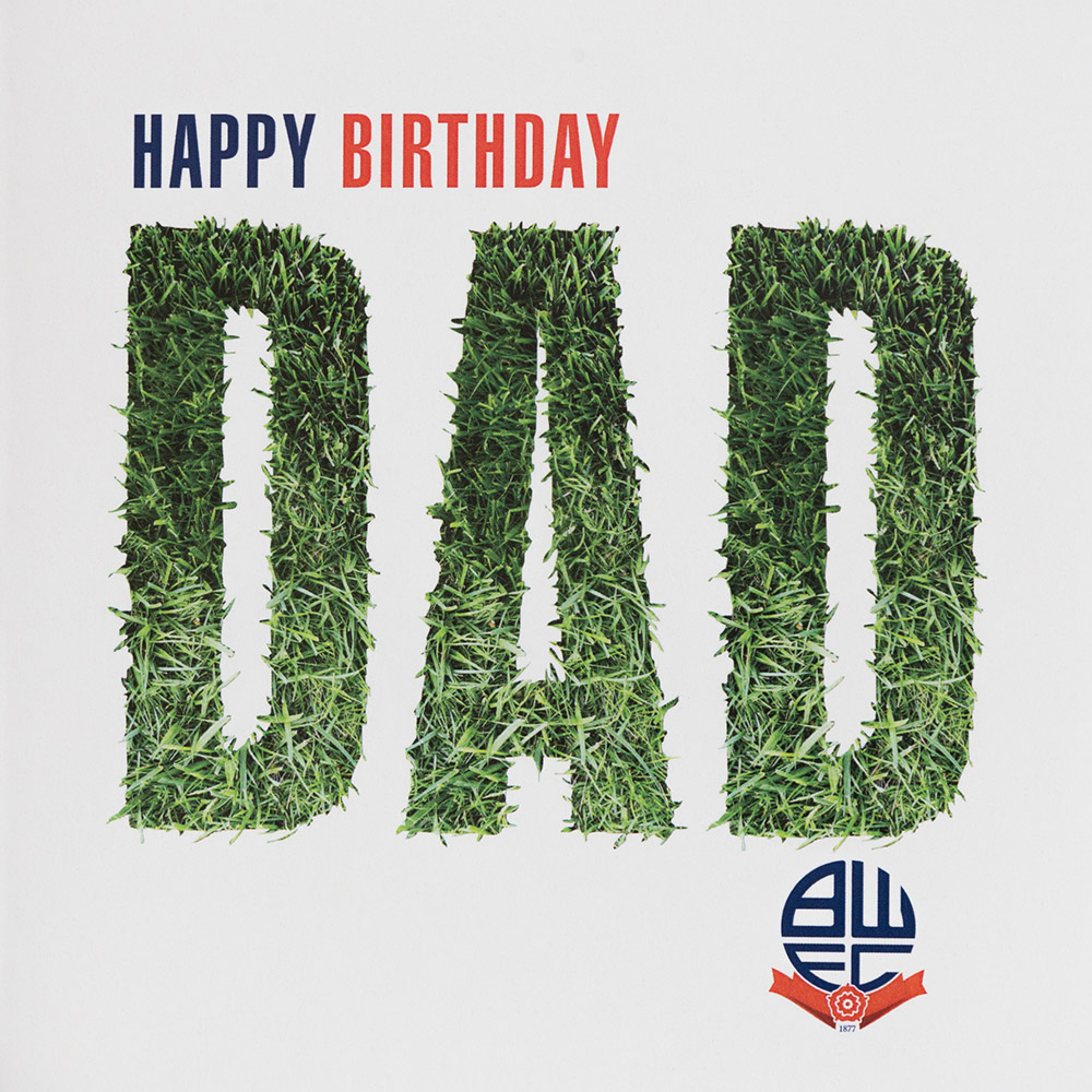Happy Birthday Dad Grass Card